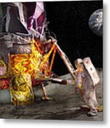 Astronaut - One Small Step Metal Print