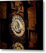 Astronomical Clock Prague Czech Republic Metal Print