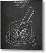Astronomical Telescope Patent From 1943 - Dark Metal Print