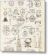 Astronomy Diagrams Metal Print