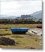 Asturias Seascape With Boats Metal Print