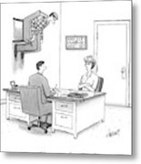 At A Marriage Counselor's Office Metal Print
