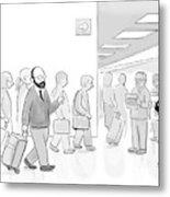 At An Airport Metal Print