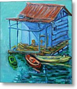 At Boat House Metal Print