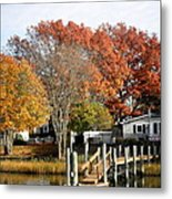 At Home On The Harbor Metal Print