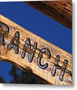 At Home On The Ranch Metal Print