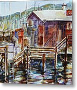 At Monterey Wharf Ca Metal Print