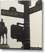 at Monument and Boulevard Metal Print by Nancy Dole McGuigan