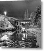 At Night By River. Metal Print
