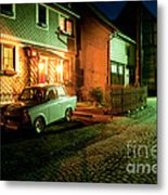 At Night In Thuringia Village Germany Metal Print