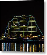 At Night On The  Delaware River - The Mushulu Metal Print