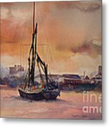At Rest On The Thames London Metal Print