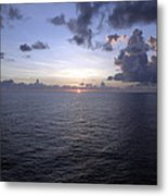 At Sea -- A Sunrise Begins Metal Print