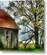 At The Barn Metal Print by Julie Dant