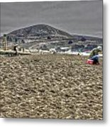At The Beach At Pacifica Metal Print