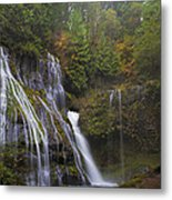 At The Bottom Of Panther Creek Falls Metal Print