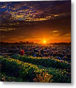 At The Break Metal Print