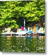 At The Cottage Dock Metal Print