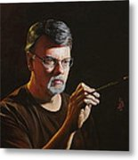 At The Easel Self Portrait Metal Print