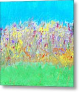 At The Edge Of The Field Metal Print