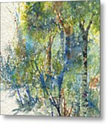 At The Edge Of The Woods Metal Print