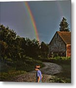 At The End Of A Rainbow Metal Print
