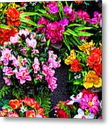 At The Flower Market  Metal Print