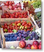 Fruit Stand Near St. Marks Metal Print