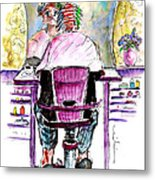 At The Hairdresser Metal Print