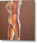 At The Job Site Nude Metal Print