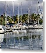At The Marina Metal Print by    Michael Glenn