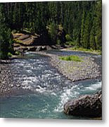 At The River's Heart Metal Print