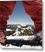 At The Top Of The Mountain Metal Print
