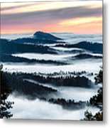 At The Top Of The World Metal Print