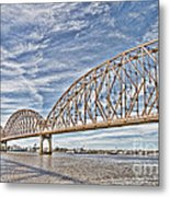 Atchafalaya River Bridge Metal Print