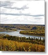 Athabasca Fall Metal Print