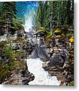 Athabasca Falls Metal Print by Chris Heitstuman