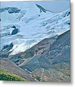 Athabasca Glacier Along Icefields Parkway In Alberta Metal Print