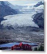 1m3734-athabasca Glacier W Original Icefields Chalet Metal Print
