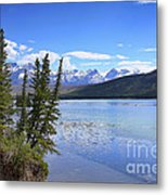 Athabasca River Scenery Metal Print