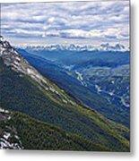 Athabasca River Valley - Jasper Metal Print