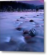 Athabasca Sunset Metal Print