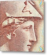 Athena On Banknote Metal Print