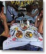 Athenians Eat Lunch Metal Print