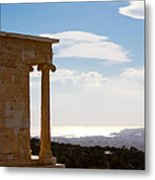 Athens And The Sea From The Acropolis Metal Print