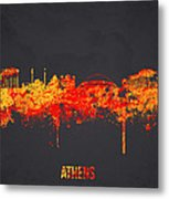 Athens Greece Metal Print by Aged Pixel