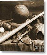Athletic Equipment 1940 Metal Print