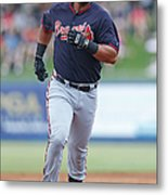 Atlanta Braves V New York Mets Metal Print