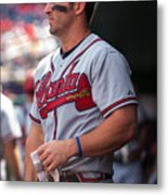 Atlanta Braves V Washington Nationals Metal Print