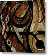 Atlanta Earth Abstract Art Metal Print